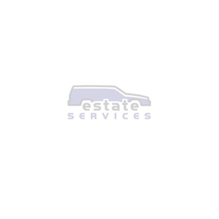Naafdop zwart met zwart Volvo logo en chrome ring (62-64MM) *