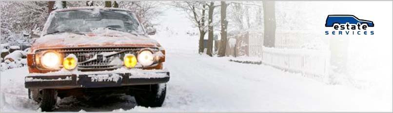 Slide4 Volvo W 140 in de sneeuw
